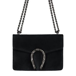 Suede Leather Bag Black