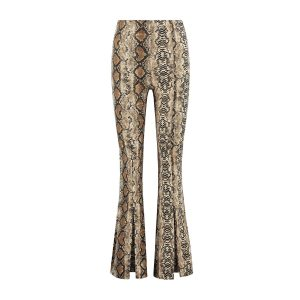 Snake Print Flaired Pants